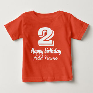 Happy Birthday with Name Baby T-Shirt