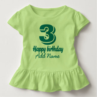 Happy Birthday with Name Toddler T-shirt