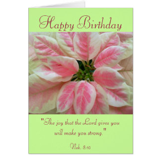 Happy Birthday with Scripture Verse Card. Card