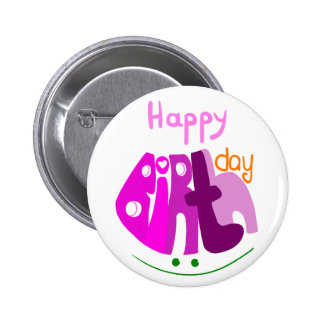 Happy Birthday with smile button