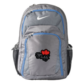 Happy Birthday with two red hearts Backpack