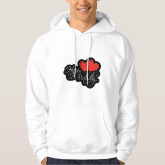 Happy Birthday with two red hearts Hoodie