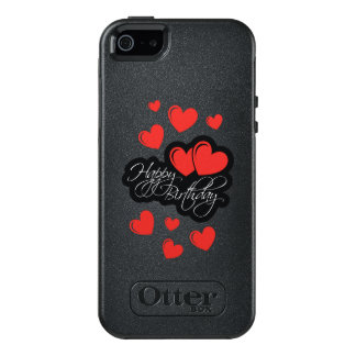 Happy Birthday with two red hearts OtterBox iPhone 5/5s/SE Case