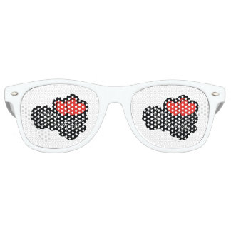 Happy Birthday with two red hearts Party Shades
