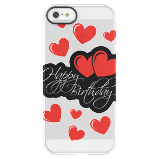Happy Birthday with two red hearts Permafrost® iPhone SE/5/5s Case