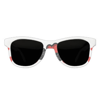 Happy Birthday with two red hearts Sunglasses