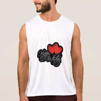 Happy Birthday with two red hearts Tank Top