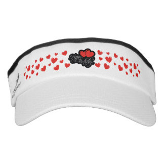 Happy Birthday with two red hearts Visor