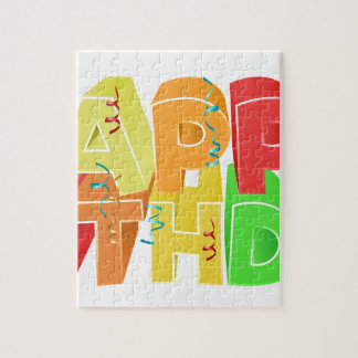 Happy Birthday Word Text Sign Puzzle