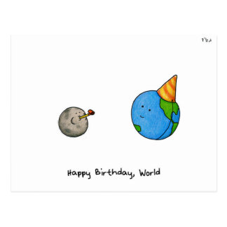"""Happy Birthday, World"" - Rosh Hashanah Postcard"