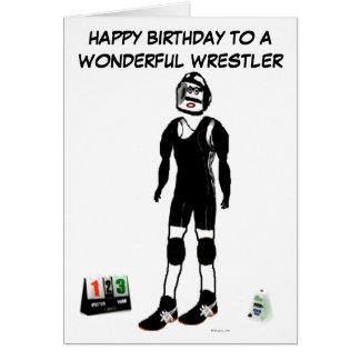 Happy Birthday Wrestler Card