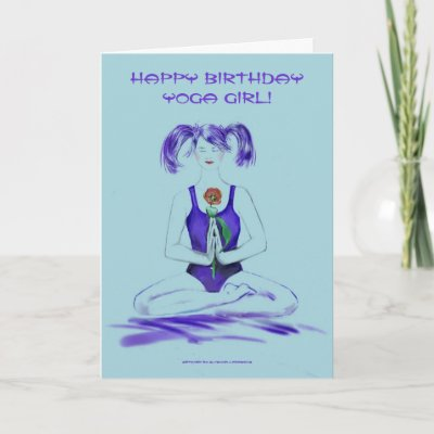 Send this pretty birthday card to your favourite Yoga/M