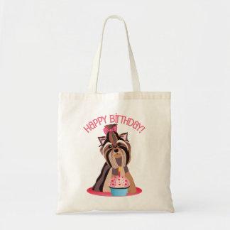 Happy Birthday Yorkie Tote Bag