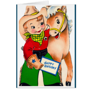 Happy Birthday - Young Sheriff Greeting Card