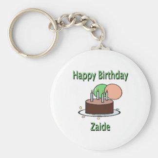 Happy Birthday Zaide Yiddish Grandpa Birthday Desi Keychains