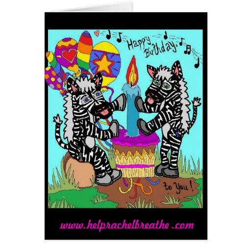happy birthday zebra card  zazzle