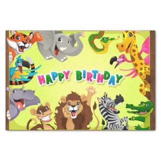 Happy birthday zoo animals tissue paper