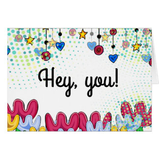 Happy Birthdya bright doodle floral card