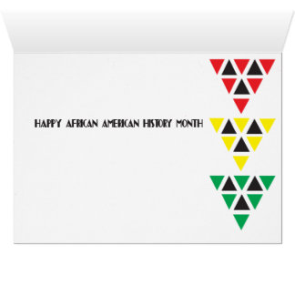 Happy Black History Month (Rastafarian Tribute) Card