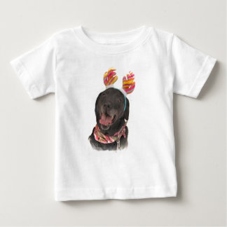 Happy Black Labrador Retriever Dog Baby T-Shirt