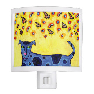 Happy Blue Dog Night Light