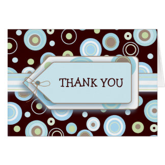 Happy Blue Dots Thank You Notecard Note Card