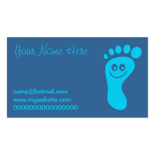 Happy Blue Foot Business Card