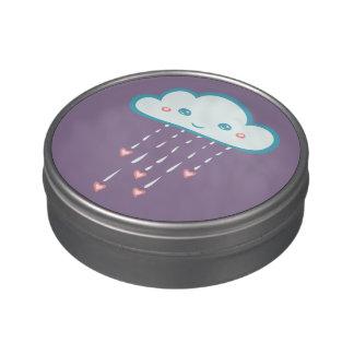 Happy Blue Rain Cloud Raining Pink Hearts
