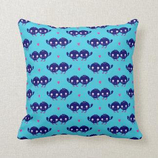 Happy Blueberry BFFs Throw Pillow
