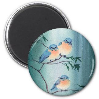 HAPPY BLUEBIRDS by SHARON SHARPE Magnet