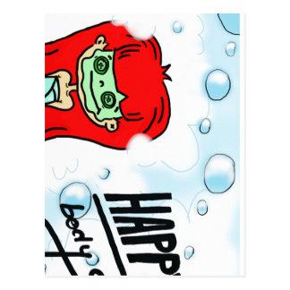 Happy Body & Bath Bubbles Postcard
