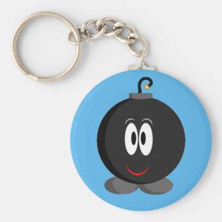 Happy Bomb Basic Round Button Keychain