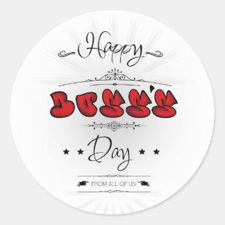Happy Boss's Day Round Sticker