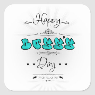 Happy Boss's Day Square Sticker
