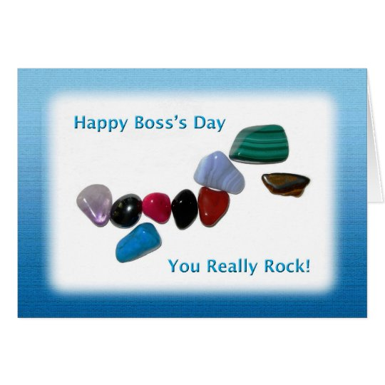 Happy Boss's Day You Really Rock Card