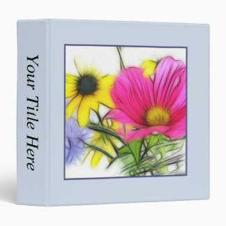Happy Bouquet of Flowers Vinyl Binders