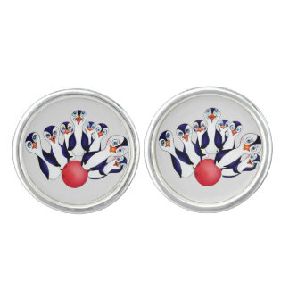 Happy Bowling by The Happy Juul Company Cufflinks