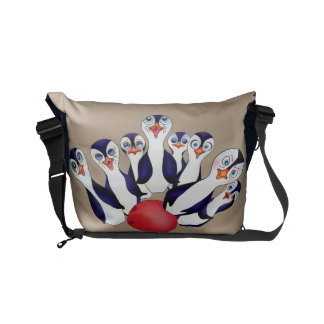 Happy Bowling & Penguinpins by The Happy Juul Comp Courier Bag