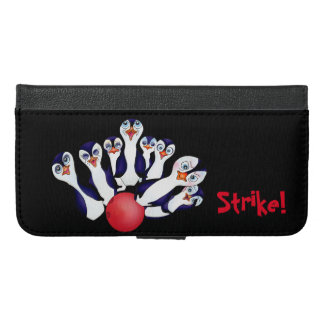 Happy Bowling & Penguinpins by The Happy Juul Comp iPhone 6/6s Plus Wallet Case