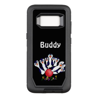 Happy Bowling & Penguinpins by The Happy Juul Comp OtterBox Defender Samsung Galaxy S8 Case