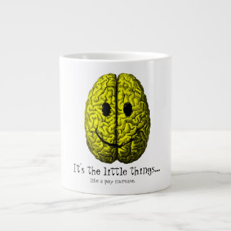 Happy Brain:  It's the little things Large Coffee Mug