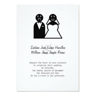 """Happy Bride Sad Groom Funny Wedding 5"""" X 7"""" Invitation Card"""