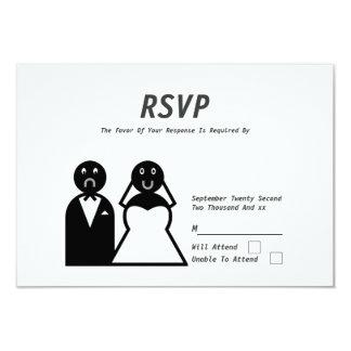 Happy Bride Sad Groom Funny Wedding Invites