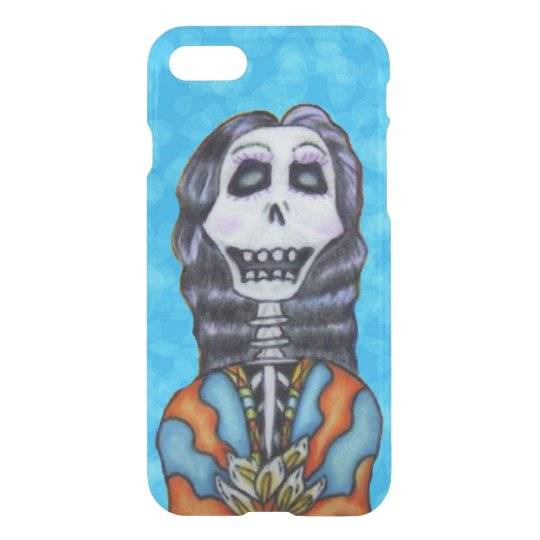 Happy Bright Lady Day of Dead Skeleton Flowers iPhone 8/7 Case