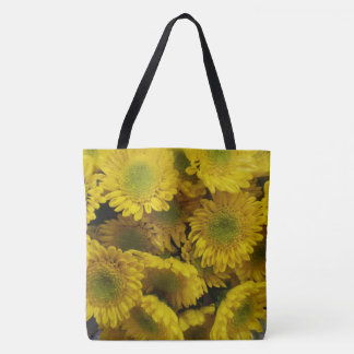 Happy Bright Yellow Flowers Tote Bag