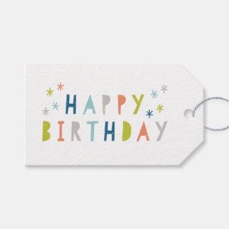 Happy brithday gift tag pack of 10 pack of gift tags