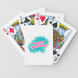 Happy Brithday Typographic Design Bicycle Playing Cards