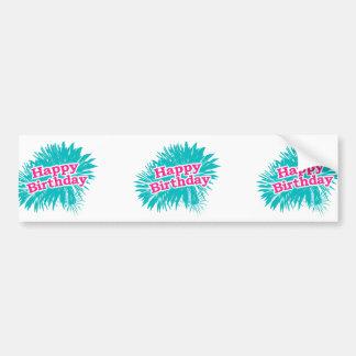 Happy Brithday Typographic Design Bumper Sticker