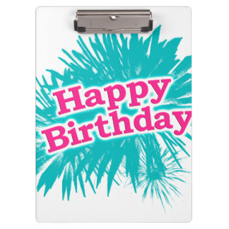 Happy Brithday Typographic Design Clipboard