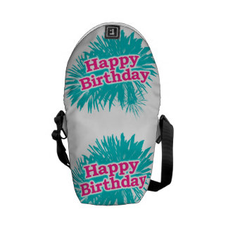 Happy Brithday Typographic Design Commuter Bags